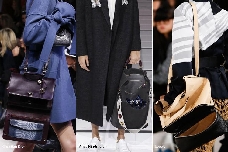 Расстегнутые сумки - тенденции осень 2016, зима 2017