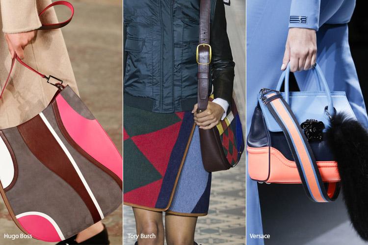 Разноцветные сумки - тенденции осень 2016, зима 2017