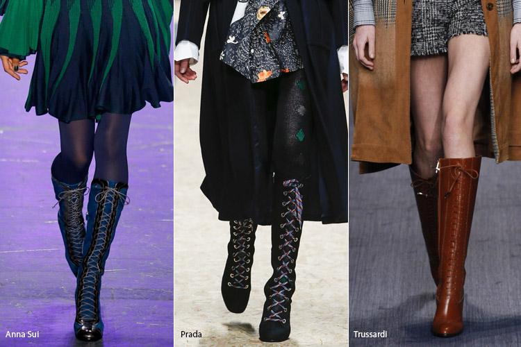 Шнуровка - модная обувь, тенденции сезона осень 2016 - зима 2017