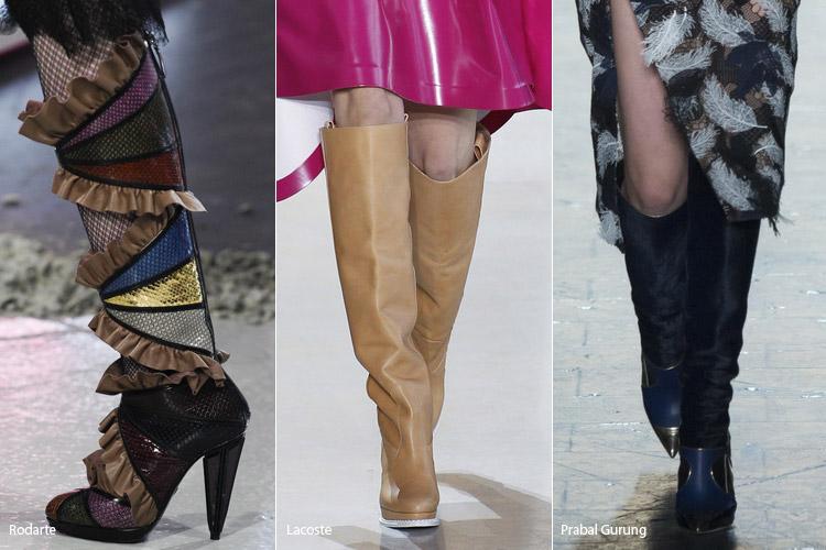 Сапоги до колена - модная обувь, тенденции сезона осень 2016 - зима 2017