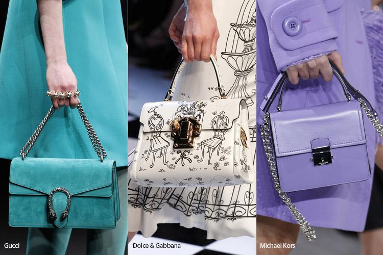 Сумки по цвету и фактуре совпадающие с одеждой - тенденции осень 2016, зима 2017