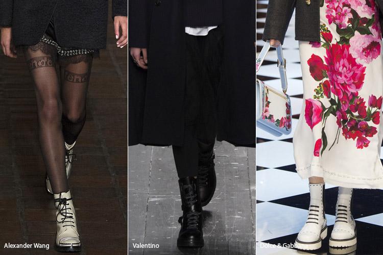 Высокие ботинки - модная обувь, тенденции сезона осень 2016 - зима 2017
