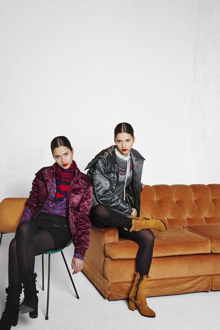 Девушки в лестящих куртках от Sonia by Sonia Rykiel - модные куртки и пуховики на осень 2016 и зиму 2017