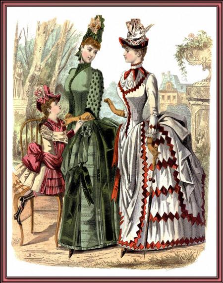 Две дамы в платьях в викторианском стиле