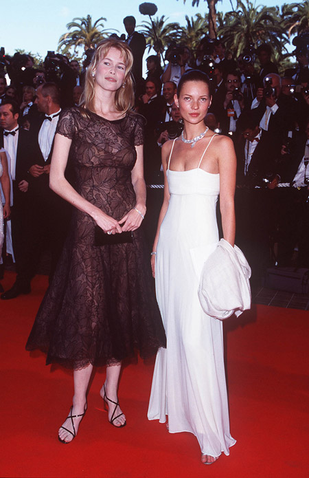 Клаудия Шиффер и Кейт Мосс, 1998 PHOTO: WENN.com