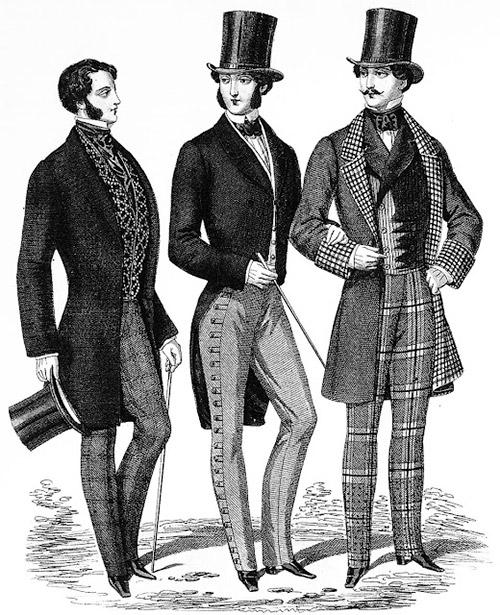 Трое мужчин в пальто и шляпах