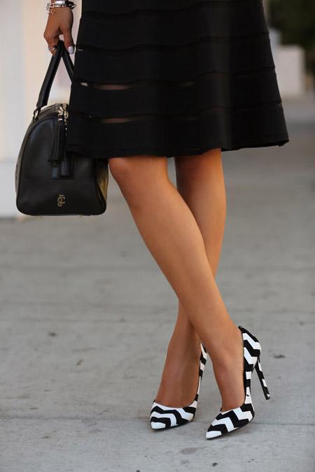 Черно-белые туфли