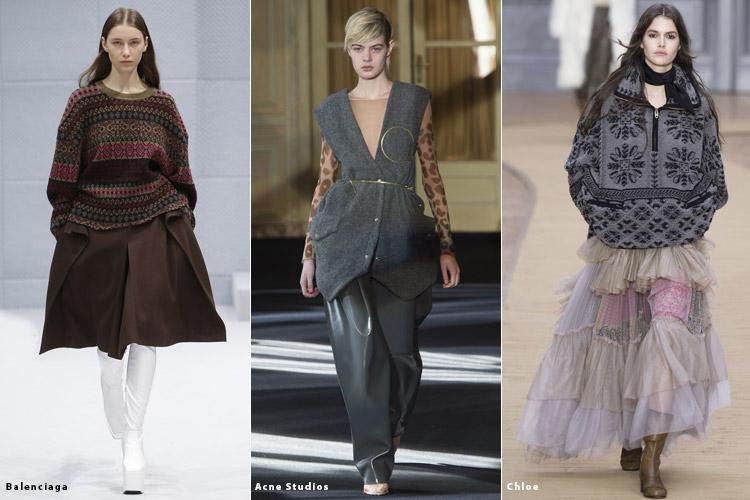 Модели в одежде оверсайз - модные тенденции осень 2016, зима 2017