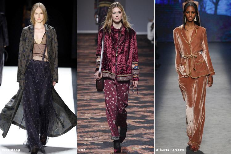 Модели в одежде в пижамном стиле - модные тенденции осень 2016, зима 2017