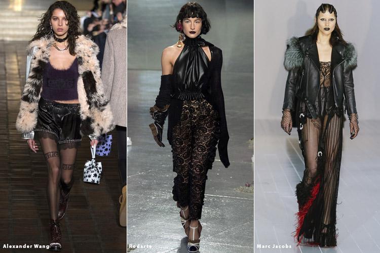 Модели в стиле гранж - модные тенденции осень 2016, зима 2017