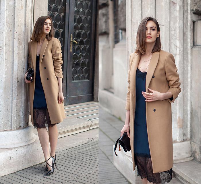 Девушка в сорочке и пальто