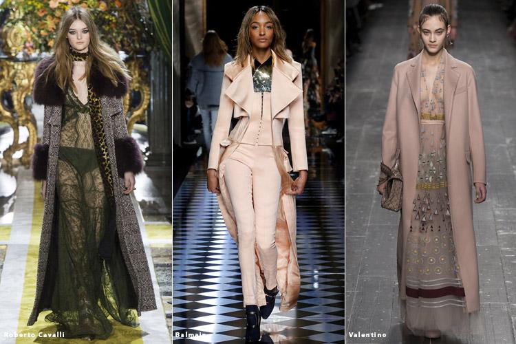 Модели в длинных пальто - модные тенденции осень 2016, зима 2017