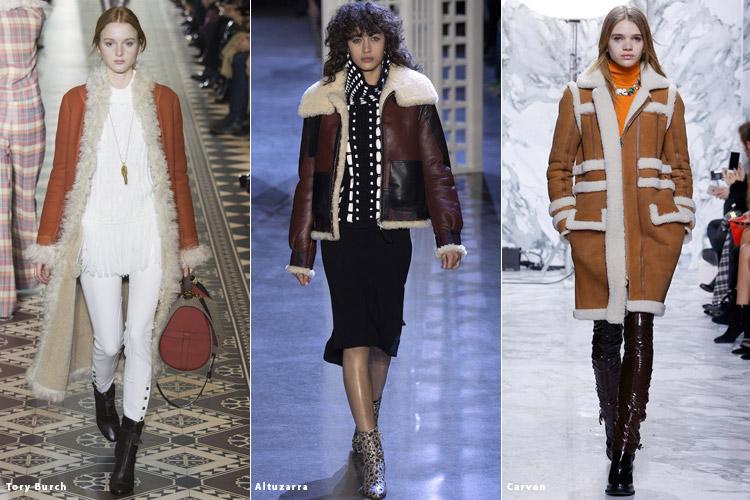 Модели в дубленках - модные тенденции осень 2016, зима 2017