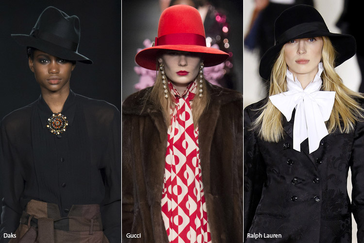 Модели в гангстерских шляпах