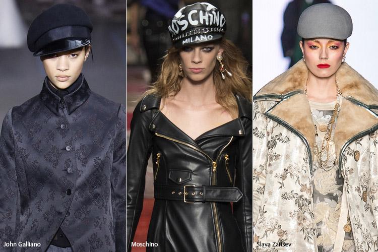 Модели в кепках