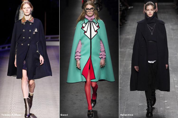 Модели в кейпах - модные тенденции осень 2016, зима 2017
