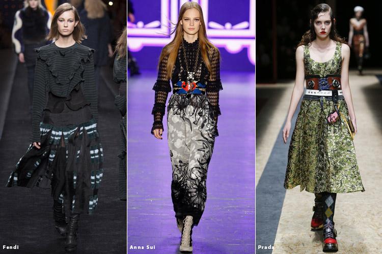 Модели в корсетах - модные тенденции осень 2016, зима 2017