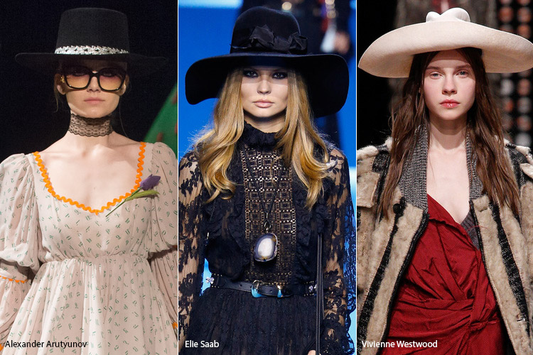 Модели в ковбойских шляпах