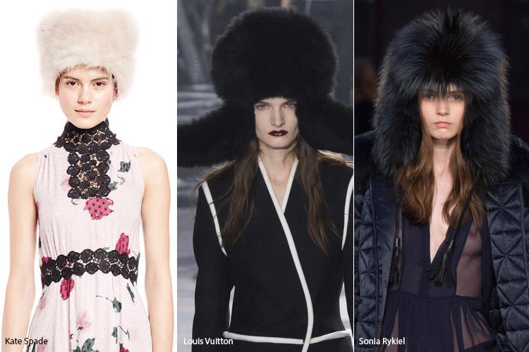 Модели в меховых шапках