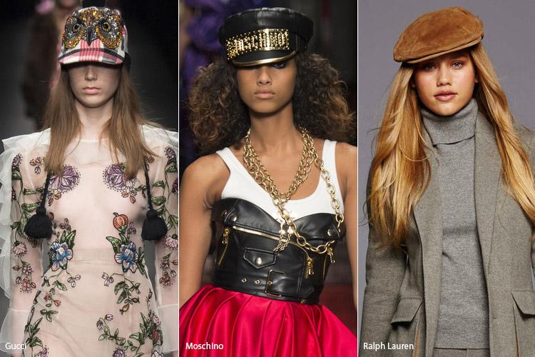Модели в разных кепках