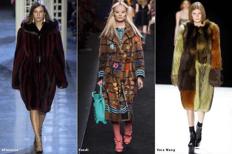 Модели в шубах - модные тенденции осень 2016, зима 2017