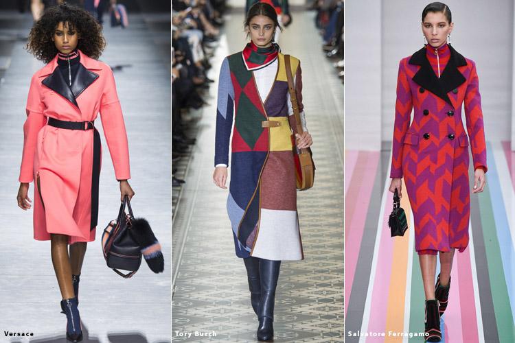 Модели в ярких пальто - модные тенденции осень 2016, зима 2017
