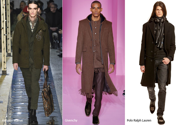 Мужчины в пальто с капюшонами