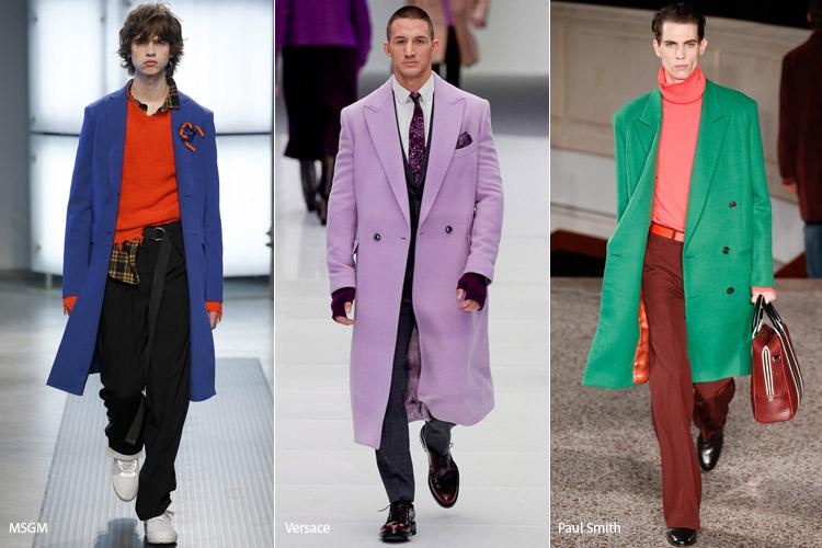 Мужчины в ярких пальто