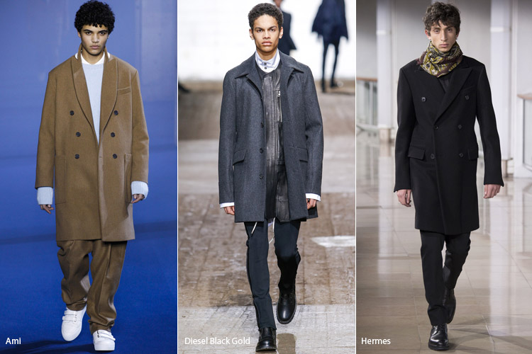 Парни в пальто в классическом стиле