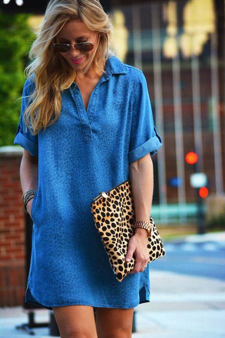 Девушка с леопардовым конвертом