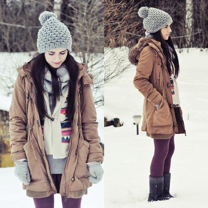 Девушка в зимней парке