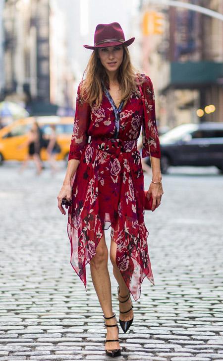 Alexandra Lapp - уличная мода Нью-Йорка весна/лето 2017