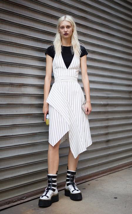 Lidia Judickaite - уличная мода Нью-Йорка весна/лето 2017