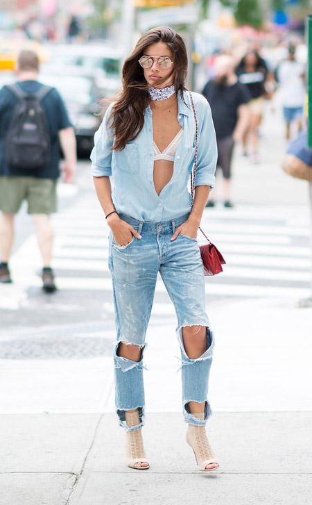 Сара Сампайо - уличная мода Нью-Йорка весна/лето 2017