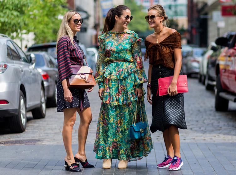 Tamara Kalinic, Nina Suess - уличная мода Нью-Йорка весна/лето 2017