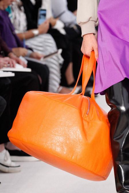 balensiaga оранжевая - модные сумки весна/лето 2017