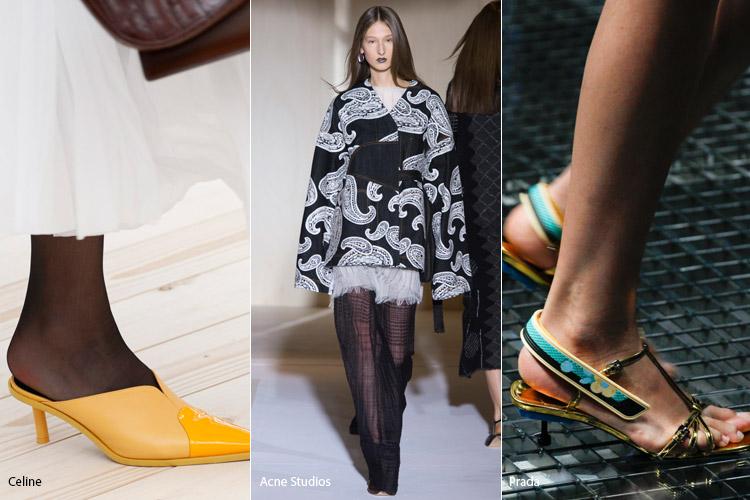 Не высокие тонкие каблуки - модная обувь весна/лето 2017