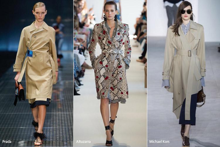 Модели в плащах - модные тенденции весна/лето 2017