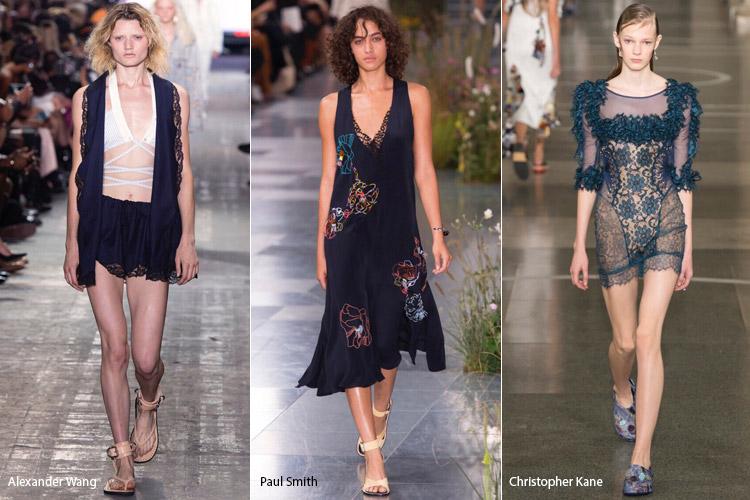 Модели одеты в бельевом стиле - модные тенденции весна/лето 2017