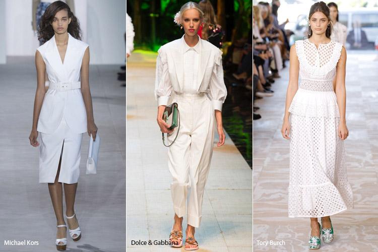Модели в белом - модные тенденции весна/лето 2017
