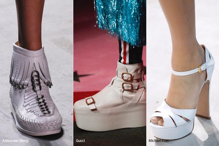Белый цвет - модная обувь весна/лето 2017
