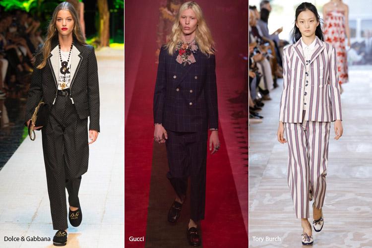 Модели в брючных костюмах - модные тенденции весна/лето 2017
