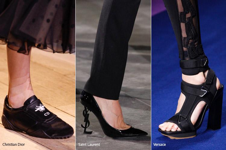 Черный цвет - модная обувь весна/лето 2017