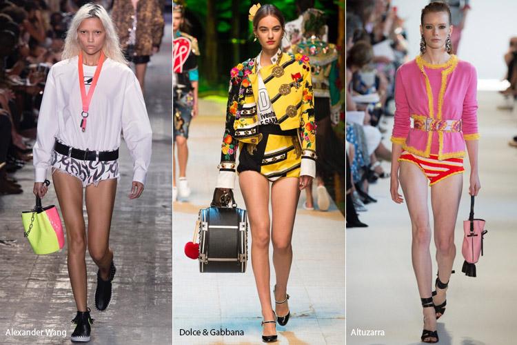 Модели в ультракоротких шортах - модные тенденции весна/лето 2017