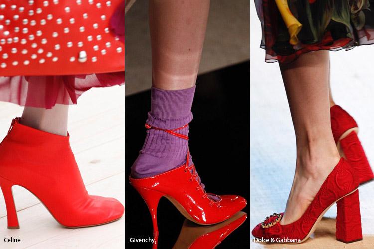 Красная обувь - модная обувь весна/лето 2017