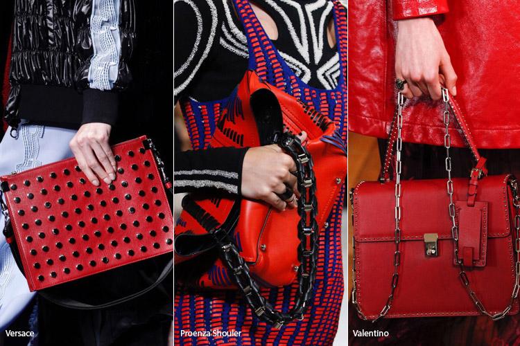 Красные сумки - модные сумки весна/лето 2017