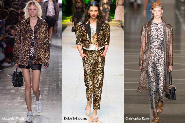 Модели в одежде с леопардовым принтом - модные тенденции весна/лето 2017