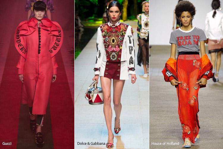 Модели в одежде с крупными принтами - модные тенденции весна/лето 2017