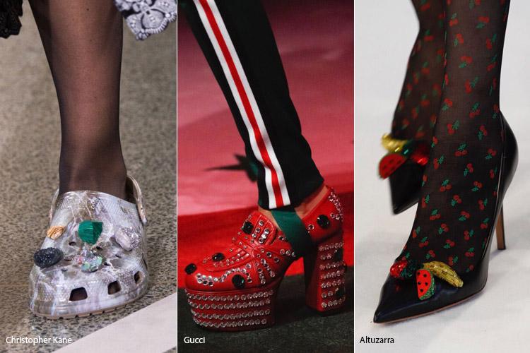 Обилие декора - модная обувь весна/лето 2017