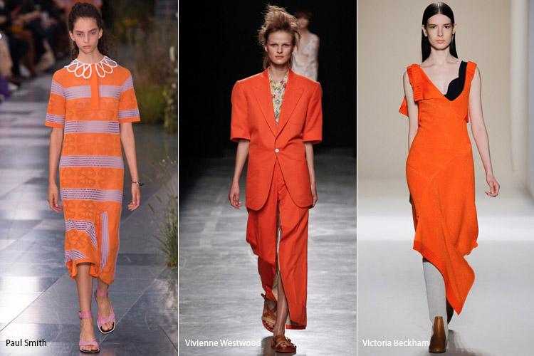 Модели в оранжевом - модные тенденции весна/лето 2017